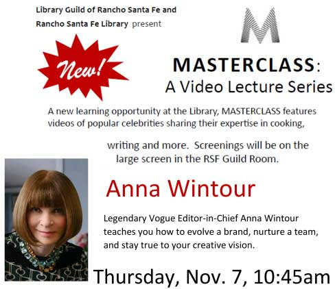 Video Lecture: Anna Wintour @ RSF Library