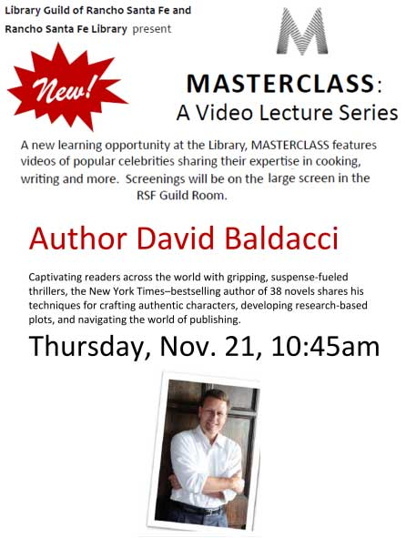 Video Lecture: David Baldacci @ RSF Library
