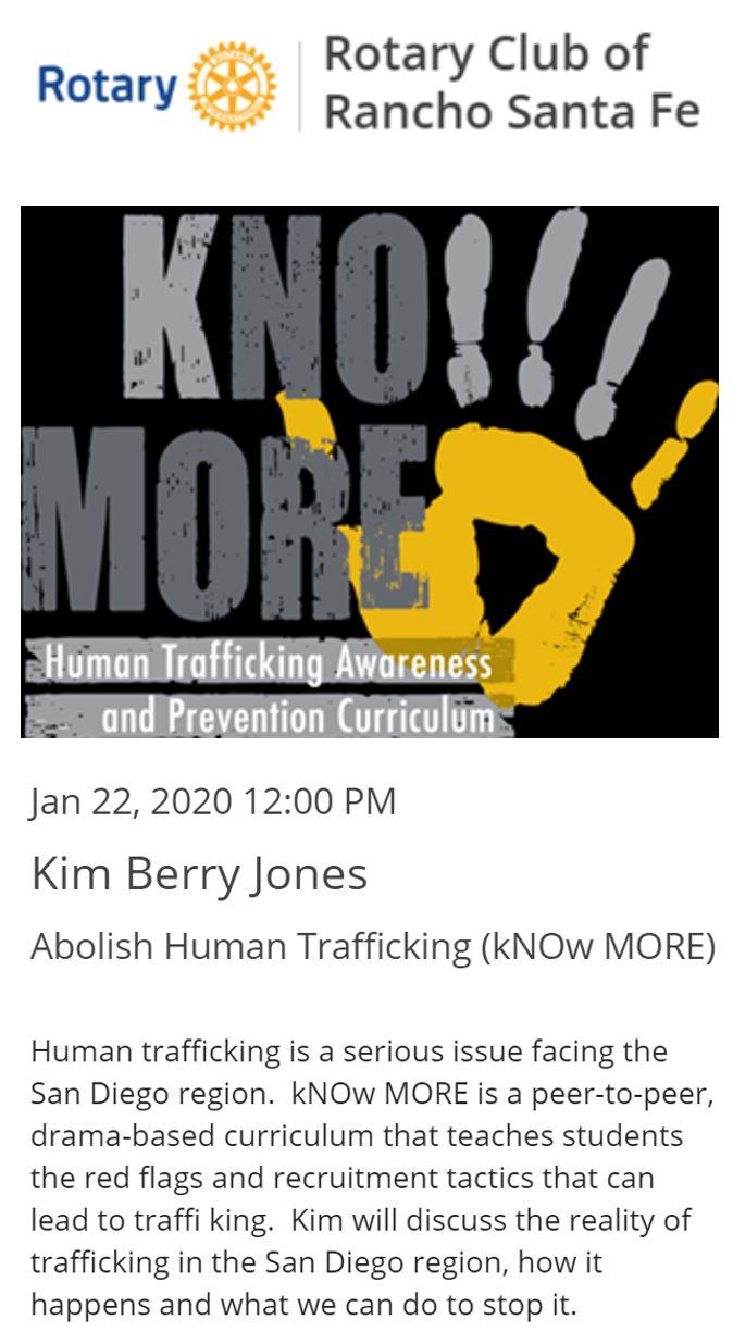 Rotary Lunch: Abolish Human Trafficking @ RSF Golf Club
