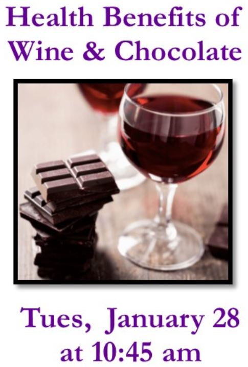 Talk: Wine & Chocolate Health Benefits @ RSF Library