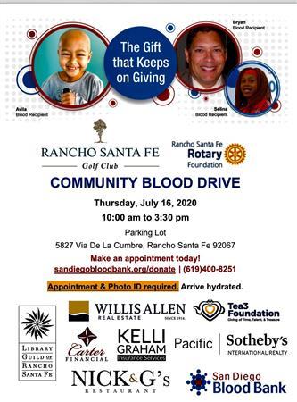 Community Blood Drive @ RSF Golf Club